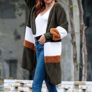 Shein Colorblock Jacket / Sweater, like new, sz M